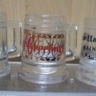 Vintage Shot Glass LOT 3 MINI STEIN BEER MUG HANDLED BAR HARBOR SEASONS GREETING