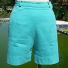 Cache $78 STRETCH Short Pant EUC XS 0/2 Cotton Lycra TURQUOISE Elliott Lauren