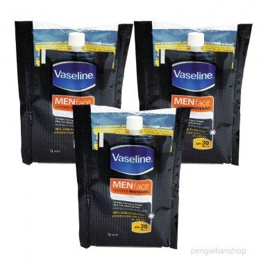 3x7g Vaseline MEN face Antispot Whitening Total Fairness Serum Spf 30 PA+++
