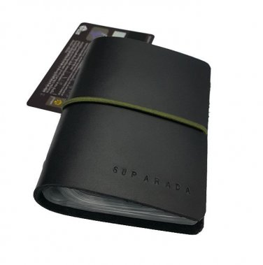 VISA Card Wallets Holder Business Card Black Leather Elastic Band Free shipping