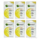 6pcs GARNIER Skin Naturals Light Pure lemon essence Lightening Peel-Off MARK
