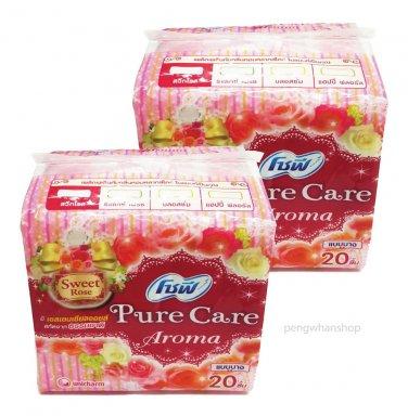 2packs Sofy SWEET ROSE Sanitary Napkins Pure Care Aroma Thin Free shipping