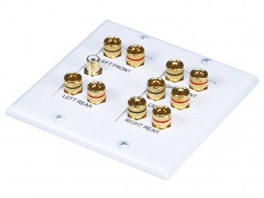 2-Gang 5.1 Surround Sound Distribution Wall Plate