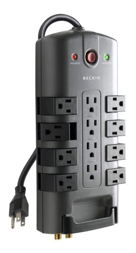 Belkin Pivot-Plug 12 Outlet Surge Protector Power Strip with 8' Cord