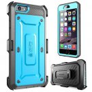 SUPCASE Belt Clip Holster Apple iPhone 6 Plus Case 5.5 Inch (Blue/Gray)