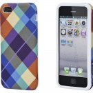 Textile Silicone Case for iPhone 5/5s - Pretty Plaid