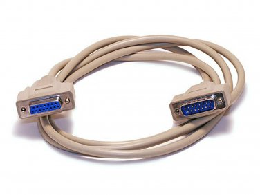 10ft DB15 M/F 1:1 Molded Cable - Beige