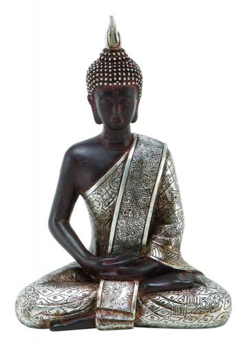 "8"" Thai Buddha Meditating Peace Harmony Statue"