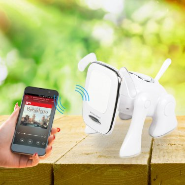 Cute Wireless Bluetooth Speaker Puppy Shape MicroSD FM Radio