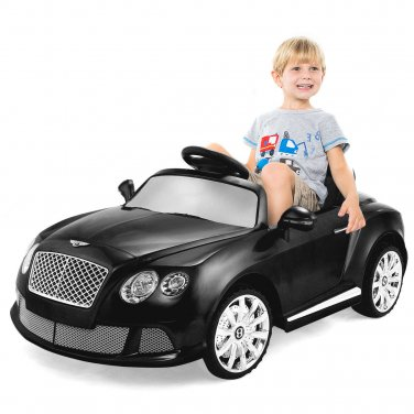 12V Bentley GTC Kids Ride On Car Electric RC Remote Control w/Lights MP3 Black