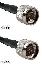25 foot N-male to N-male cable