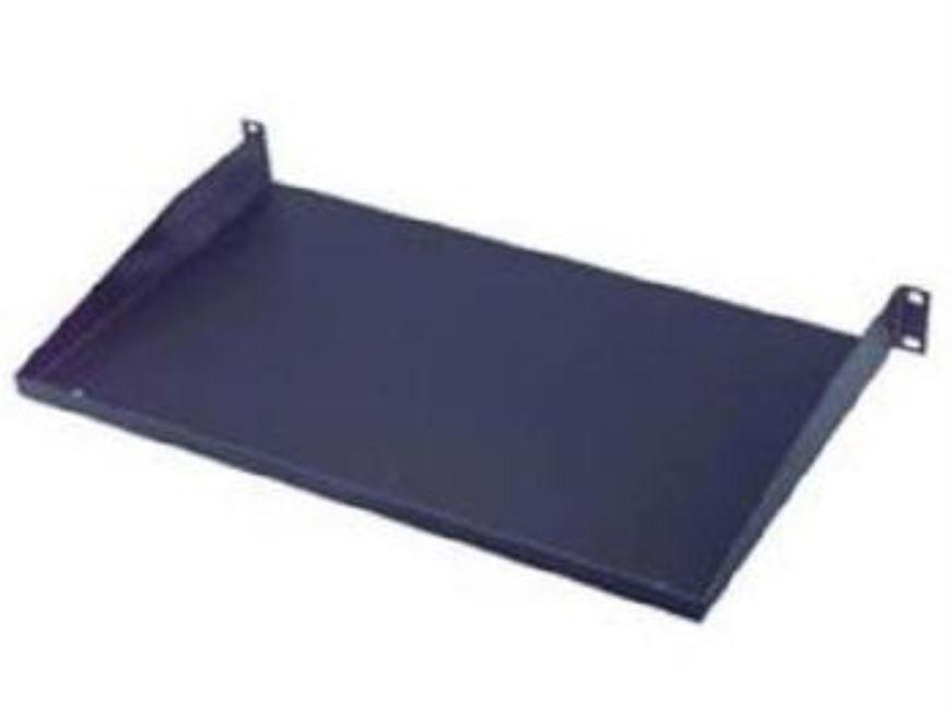 1U Black Rack Shelf - 6 Inch Depth