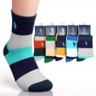 5Pair/Lot Polo Four Seasons General Men Socks Colorful Casual 78216