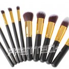 Wood Handle Makeup Brushes Set (10 Pieces) - 4030001