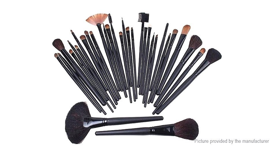 Nylon Hair Makeup Brushes Set (22 Pieces) w/ PU bag - 5124300