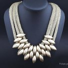 Women's Multilayer Waterdrop Shaped Beads Collar Necklace - 5666500