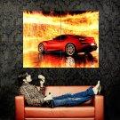 Icona Vulcano Fire Car Huge 47x35 Print Poster