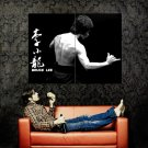 Bruce Lee Kung Fu Actor BW Huge 47x35 Print POSTER