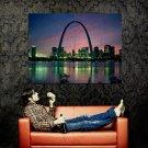 St Louis Missouri Night Skyline Around The World Huge 47x35 POSTER
