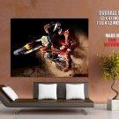 Motocross Jump Dirt Bike Motorcycle Huge Giant Print Poster