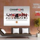 Champions Manchester United Football Huge Giant Print Poster
