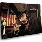 Bill The Butcher Cutting Gangs Of New York Art 40x30 Framed Canvas Art Print
