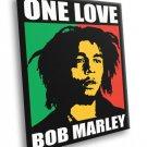 Bob Marley One Love Painting Reggae Music Art 50x40 Framed Canvas Print