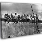 Lunch Atop A Skyscraper Workers Retro Old BW 40x30 Framed Canvas Print