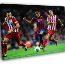 Neymar Jr Dribbling Barcelona Awesome Football 50x40 Framed Canvas Print