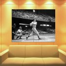 Stan Musial St Louis Cardinals Vintage Retro Bw Huge Giant Print Poster
