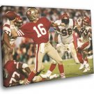 Joe Montana San Francisco 49ers Classic Football 50x40 Framed Canvas Print
