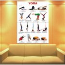 Yoga Chart Inversions Relaxation Positions Asana 47x35 Print Poster