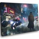Blade Runner Art Cyberpunk Movie Rick Deckard 50x40 Framed Canvas Print