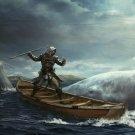 Assassins Creed IV 4 Black Flag Whale Game Art 16x12 Print Poster