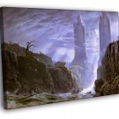 The Gates Of Argonath Lord Of The Rings Art 50x40 Framed Canvas Print