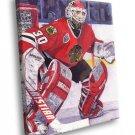 Ed Belfour Chicago Blackhawks Goaltender Painting 30x20 Framed Canvas Print