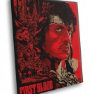 Rambo First Blood Sylvester Stallone Movie Artwork 30x20 Framed Canvas Print