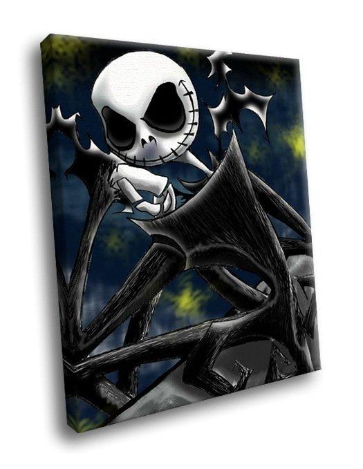 Jack Skellington Pumpkin King Halloween 50x40 Framed Canvas Art Print