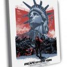 Escape From New York 1981 Movie Snake Plissken 40x30 Framed Canvas Print