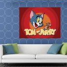 Tom And Jerry Logo Cartoon Classic Art HUGE 48x36 Print POSTER