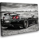 Nissan Skyline GTR R35 Tuning Auto Racing Road Car 50x40 Framed Canvas Art Print