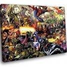 Marvel Heros Marvel Comics 30x20 Framed Canvas Art Print