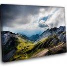 Swiss Alps Landscape 50x40 Framed Canvas Art Print