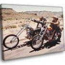 Easy Rider American Road Movie Bikers Fonda Hopper 50x40 Framed Canvas Art Print