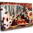 Appaloosa Horse Animal Art 40x30 Framed Canvas Art Print