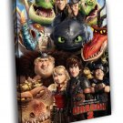 How To Train Your Dragon 2 2014 Movie 50x40 Framed Canvas Print