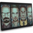 Breaking Bad TV Series Painting Art Cast Characters 50x40 Framed Canvas Print