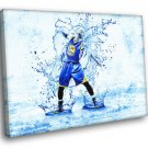 Stephen Steph Curry Golden State Warriors Art 50x40 Framed Canvas Print