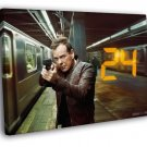 Jack Bauer Kiefer 24 Live Another Day Series 40x30 Framed Canvas Print