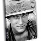 WAR IS HELL Unknown Soldier Vietnam 1965 Retro 40x30 Framed Canvas Print